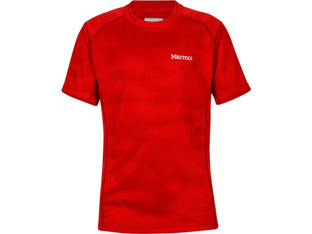 Marmot Cyclone SS Jungs team red hide